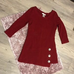 Papillon blanc red knitted sweater